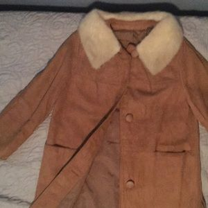 Jackets & Blazers - Vintage leather and fur coat